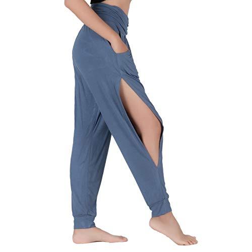 Lofbaz Pantalones De Yoga para Mujer Leggings De Entrenamiento Corte Sutil Ropa para Mujer Pantalones Deportivos Harem Pijamas Azul Marino XL