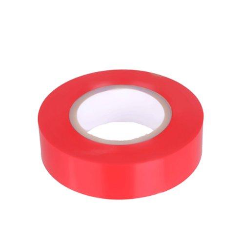 K24–Klebebänder–Nastro isolante in PVC 10metri di lunghezza 15mm di larghezza–rosso -