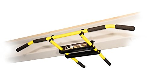 PRO Mountings I-Beam Pull up Bar Chin up Bar (Yellow Long Bar with Bent Ends)