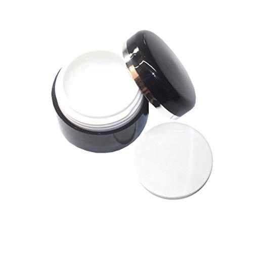 5 ml | Pot noir | Pot vide avec couvercle | à remplir avec du gel, des crèmes, etc.