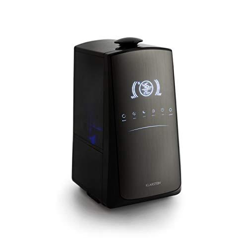 Klarstein VapoAir Opal Touch Edition Humidificador de Aire - Pulverizador, Ionizador, Vaporizador de Aire, Difusor de Aroma, 300 ml/h, Depósito 5 lts, Temporizador, Táctil, Control remoto, Gris