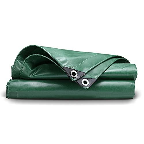 GYL Lonas Cubierta Lona de Polietileno Resistente Al Agua y A Prueba de Roturas, con Bordes Reforzados y Ojales de Cobre y Zinc para Techo, Camping, Patio, Piscina, Barco (Verde 6′-26′)