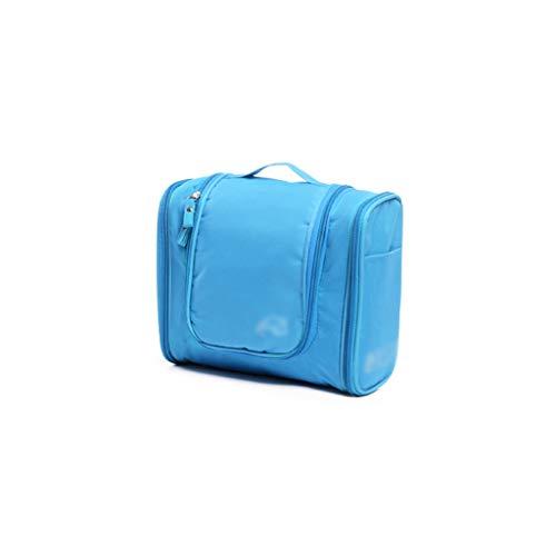 Voyage en Plein air Cosmetic Bag Grande capacité de Stockage Sac Case Portable Femme Voyage Portable Portable Wash Bag (Color : Blue, Taille : 24 * 21cm)
