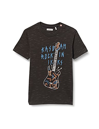 IKKS tee-Shirt guitarre éléctrique Kasbah ROCK'IN Camiseta, Negro, 12 Meses para Bebés