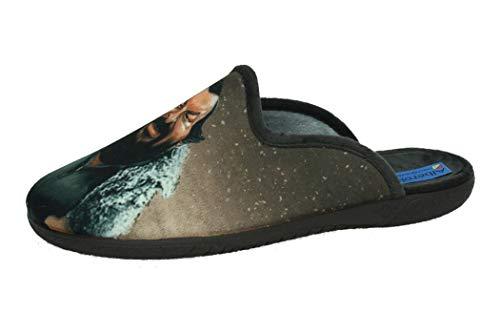 ALBEROLA AC9171 Chinela Bud Spencer Hombre Zapatillas CASA MARRÓN 40