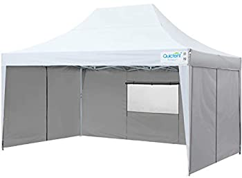 Upgraded Quictent Privacy 10x15 EZ Pop Up Canopy Tent Instant Folding Outdoor Party Tent with Sidewalls and Wheeled Carry Bag Waterproof  White