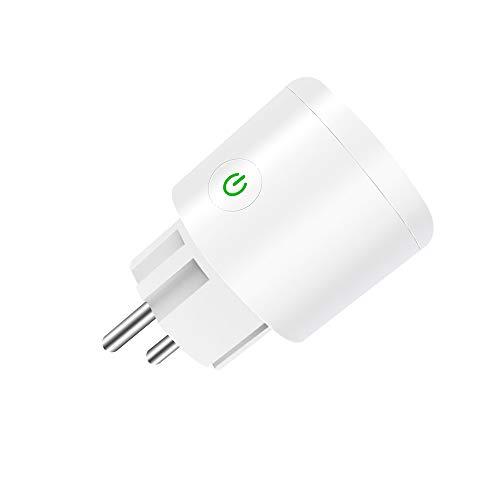 Smart Steckdose 16A,Smart WLAN Steckdose,Mini WiFi Outlet Kompatibel mit Alexa,Google Home,Fernbedienungs Timer Socket USB Netz für Home Office Kein Hub erforderlich, nur 2,4GHz