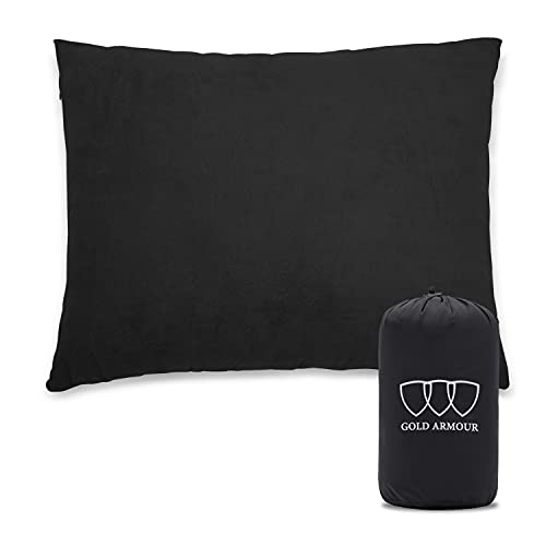 Gold Armour Camping Pillow Compressible Foam Pillows – Lightweight Ultralight Pillow Portable for Sleeping in Car, Air Plane Travel, Hammock Bed &...