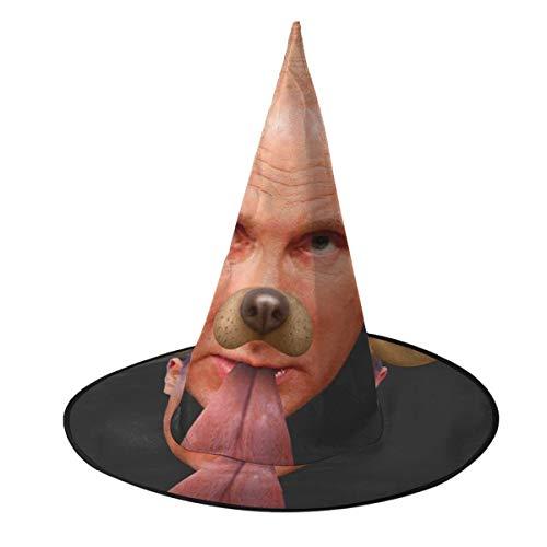NUJSHF Vladimir Putin Dog Snapchat - Gorro de Bruja con Filtro Unisex para Disfraz de Halloween, Navidad, Carnaval, Fiesta