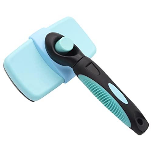 Pet Grooming Brush Cleaning Slicker Brush Hond Kat Borstel Slicker Kam Deshedding Tool Voor Vergieten En Grooming Lichtblauw 12.5 * 7cm