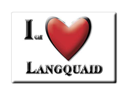 Enjoymagnets LANGQUAID (by) Souvenir Deutschland Bayern Fridge Magnet KÜHLSCHRANK Magnet ICH Liebe I Love
