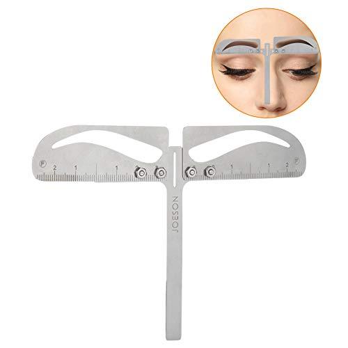 Positionierung des Augenbrauen-Lineals, einstellbares Dreipunkt-Make-up Symmetrisches Werkzeug Pflege Former Balance Caliper Extension Natürliches Augenbrauen-Lineal(Klassische Augenbraue)