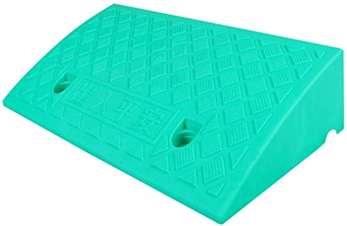 WANGXIAOYUE Rampas ligeras, escalones, umbrales, rampas autopropulsadas para sillas de ruedas, rampas de patinaje, rampa de seguridad (color verde, tamaño: 49 x 27 x 9 cm)