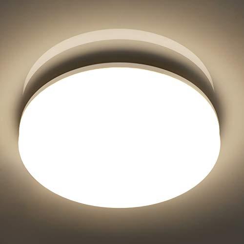 Oeegoo 18W Plafonnier Salle de Bains LED, 1800 LM, Eclairage de Plafond Ø28 * 4,8 CM, IP44 Étanche, 4000K Blanc Neutre, Luminaire LED Rond pour Chambre, Couloir, Entrée, Cuisine