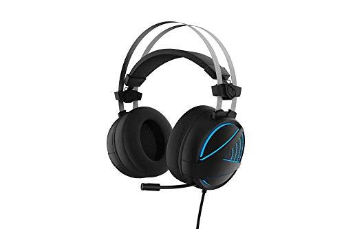 Monster Pusat Virtual 7.1 Gaming Headset PC, Kopfhörer für Gamer, Vibration und Basseffekt, RGB Beleuchtung, 2m Geflochtenes Kabel, Realistischer Surround Klang, Smart Remote Controller