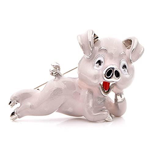 DFHTR Broche De Cerdo Esmaltado para Mujer, Broche De Animal Lindo, Insignia De Cerdo Rosa, Regalo Divertido para Niñas