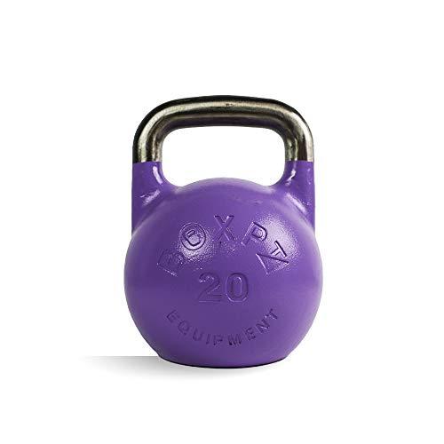 BOXPT equipment Kettlebell de Competición en Hierro Cromado Violeta (20kg)