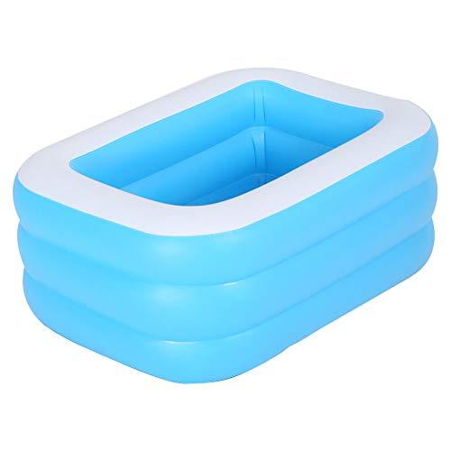 Moligin Inflable Piscina Rectangular Espesado Piscina para Niños del Bebé De Jardín Al Aire Libre del Patio Trasero del Verano Fiesta del Agua Azul 1.3m
