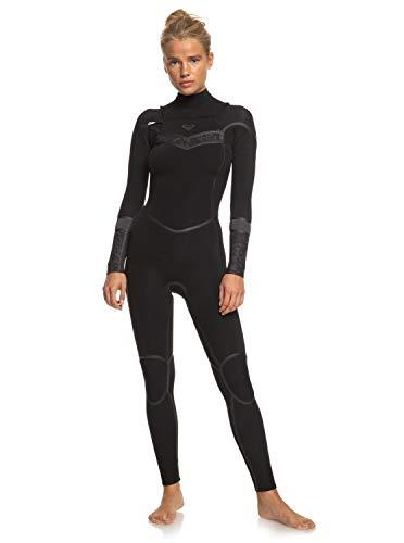 roxy Traje de Surf con Cremallera en el Pecho para Mujer Bañador, Black/Black, 6