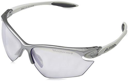 ALPINA Sonnenbrille Pro Line TWIST FOUR S VLM+ Outdoorsport-brille, Silver/White, One Size