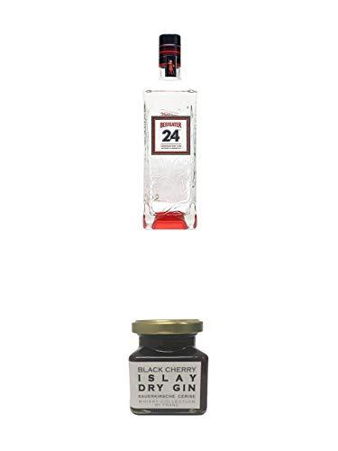 Beefeater 24 London Dry Gin 0,7 Liter + Islay Dry Gin Black Cherry Sauerkirsche Marmelade 150 Gramm