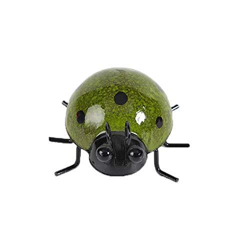 Amandaz Metal Garden Wall Art Decorative Set of 4 Cute Ladybugs Grasshopper, Dragonfly, Ant Outdoor Wall Sculptures