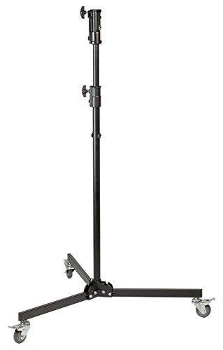 Kaiser Fototechnik 3198 Studio-Stativ mit Rollen (1,3-2,2 m einstellbar, Belastbarkeit: 25 kg)