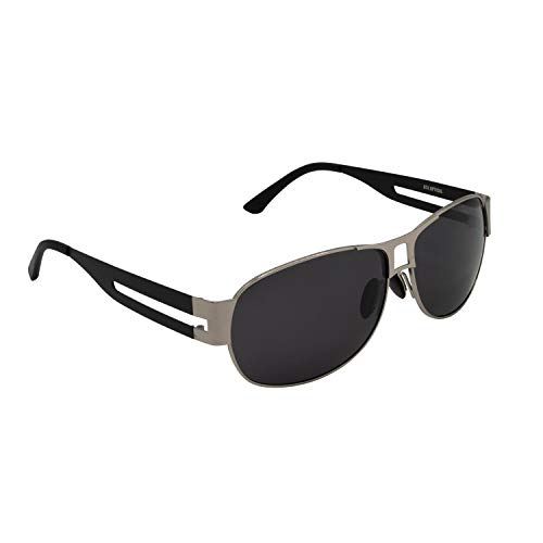 XXL extra large Classic Pilot 2.0 Polarized Sunglasses for big wide heads 154mm by ATX OPTICAL (black)