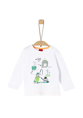 s.Oliver Junior Baby-Jungen 405.10.004.12.130.2037983 T-Shirt, 0100 White, 92