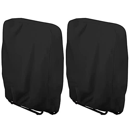 WTOKL Paquete de 2 Fundas para sillas Zero Gravity, 210D Oxford, Impermeable, a Prueba de Polvo, Resistente a los Rayos UV, para jardín, Plegable, reclinable