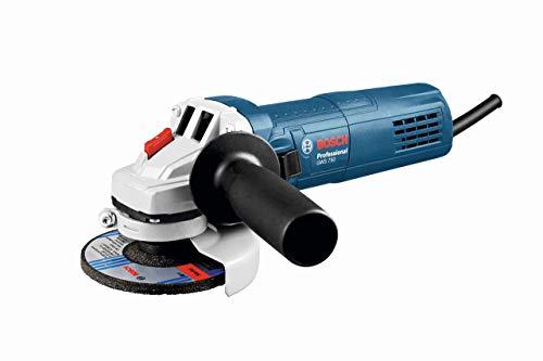 Bosch Professional Winkelschleifer GWS 750 (Scheiben-∅ 125 mm, 750 Watt, inkl. Aufnahmeflansch, Schutzhaube, Spannmutter, Zusatzhandgriff, Zweilochschlüssel, im Karton)