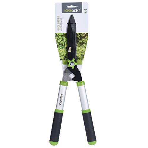 URBNLIVING Garden Hedge Shears Easy Grip Sharp Cutting Lightweight Heavy Duty Strong Garden Trimmer (Silver)