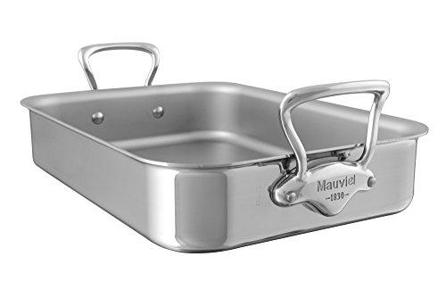 Mauviel1830 - M'Cook 521730 - Plaque à rôtir inox - 30 x 22 cm