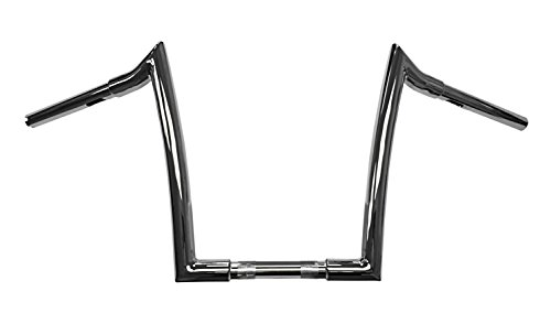 Dominator Industries 1 1/4 inch Meathook Monkey Ape Hanger Handlebar, 13 inch Rise, Chrome for 1996-2018 Dyna, Softail, Sportster and 1998-2013 Road Glide