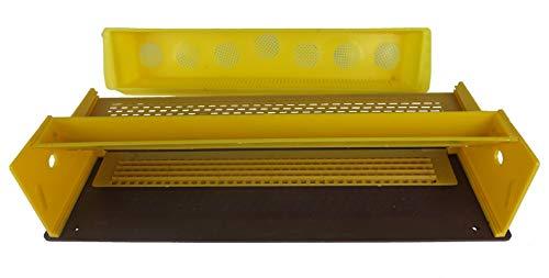 APIFORMES Fluglochvorsatz Pollenfalle mit Trapezloch Pollenkamm und belüfteter Auffangschale | Universalgröße passend für Diverse Styropor- und Holzbeuten | Imkerei | Imkereibedarf