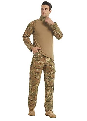 Minghe Airsoft Shirts Multicam Pants Survival Tactical Gear...