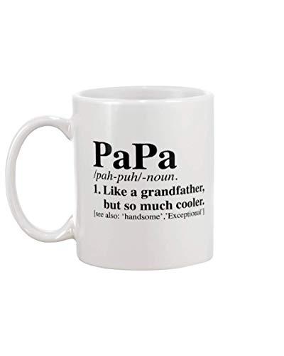 NA El Significado de la Palabra Papa - Diccionario Papi - como un Abuelo Pero Mucho más Genial Ver también Guapo, Expectional - Taza de café de 11 oz