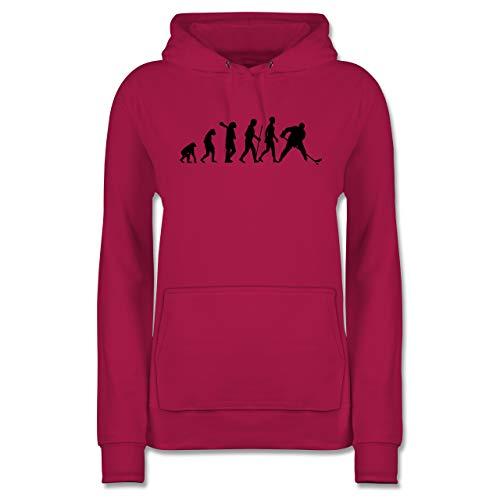 Evolution - Eishockey Evolution - S - Fuchsia - Eishockey Hoodie Damen - JH001F - Damen Hoodie und Kapuzenpullover für Frauen