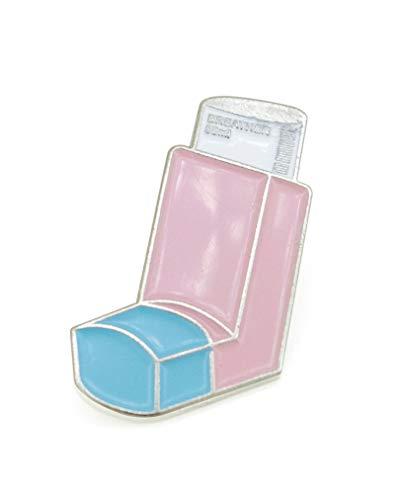YUTTALIA ピンバッチ 喘息(ぜんそく) 吸入薬 かわいい ピンズ 薬 ピンク