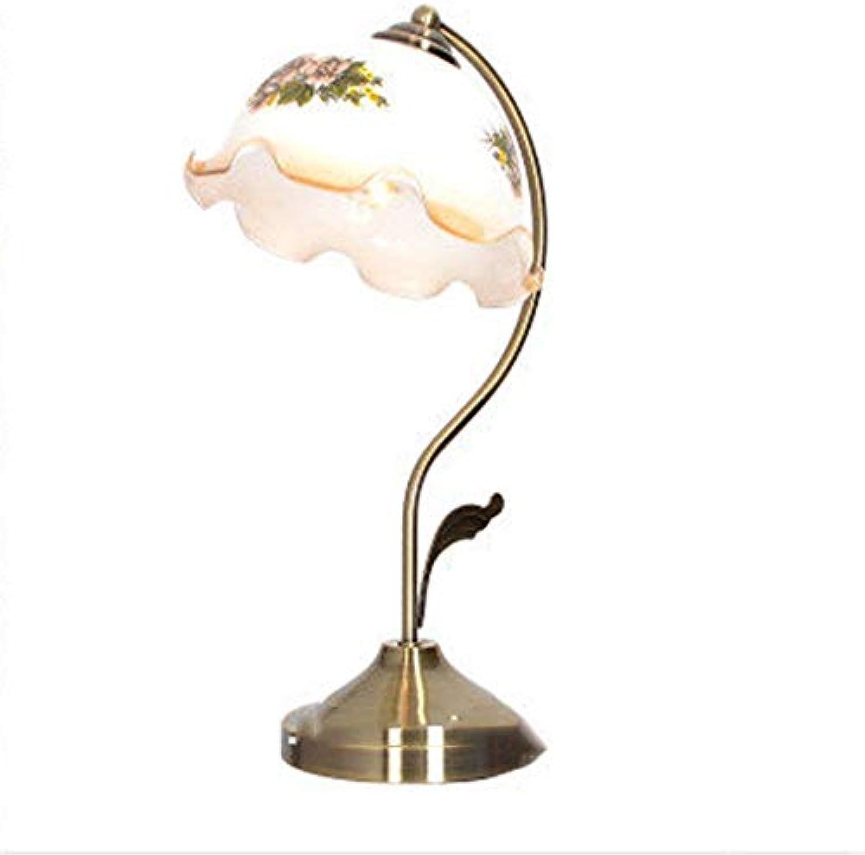 Xiao Yun  Europische minimalistische Retro Metall Antik Kupfer Tischlampe Studie Hotel Schlafzimmer Nachttischlampe