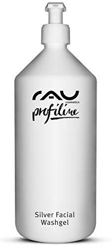 RAU Silver Facial Washgel 1000 ml - Gel nettoyant purifiant visage aux microparticules d'argent très poreux pour les peaux impures, sensibles, irritées, acnéiques.