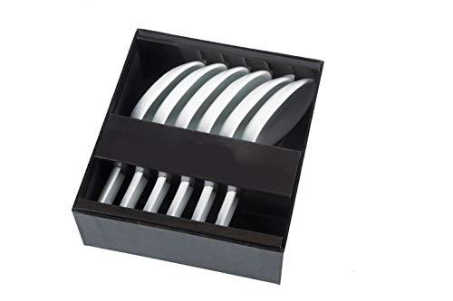 Spetebo Vorspeiselöffel 6er Set aus Porzellan - Chinesische Löffel - Esslöffel, Suppenlöffel