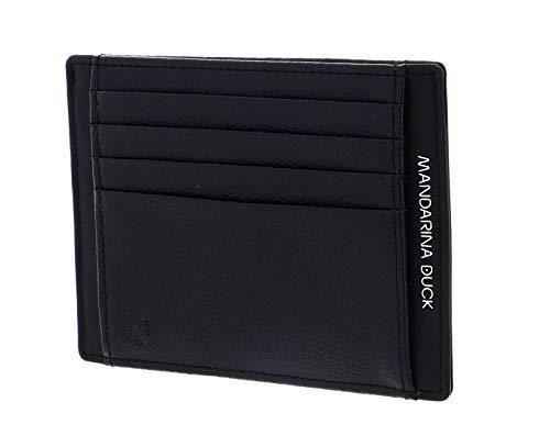 Mandarina Duck Times - Soporte para tarjetas de crédito, color negro
