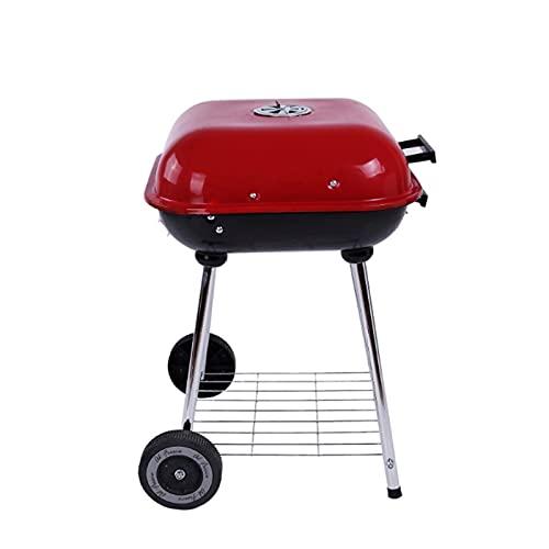 FEANG Grill Grillgrill Outdoor Garten Holzkohle Grill Holz Edelstahl Raucher BBQ für Terrasse Partei Kochen Premium Holzkohlegrill Grillwerkzeug