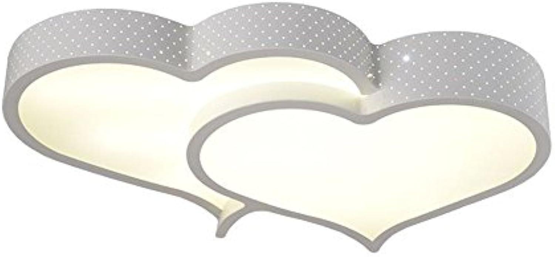 Moderne LED Schlafzimmer double-hearts Deckenleuchte Lampe Study Room Metall Herz mit weien Acryl Panel Deckenleuchte Creative Wohnzimmer Deckenleuchte Leuchten Modern small