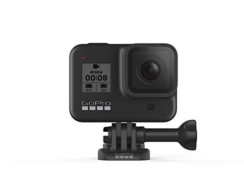 GoPro HERO8 Black - Cámara de acción Digital 4K Resistente al Agua con estabilización hipersuave, Pantalla táctil y Control de Voz