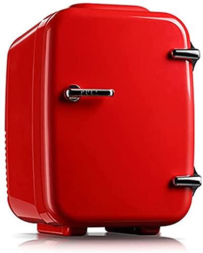 X&Z-XAOY Mini Nevera Cosmética 4L Refrigerador De Coche Portátil Más Frío Y Más Cálido para Maquillaje/Cuidado De La Piel/Bebidas para Automóviles, Hogares, Oficinas, Dormitorios (Color : Red)