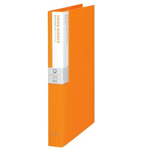 プラス リングバインダー A4縦 4穴 背幅35mm デジャヴ 89-935 ネーブルオレンジ
