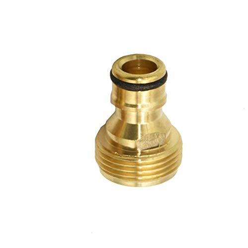 Wlbhb Rosca Macho 1/2' Conector del Adaptador de Grifo de Agua del Grifo Conector de Pistola Jardín 3/4' de latón Conector rápido Conector de la Manguera (Color : 3I4)