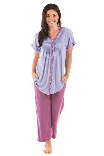 Texere Women's Pajama Set Sleepwear (Bordeaux, 3X) Great Loungewear for Her WB9992-BDX-3X
